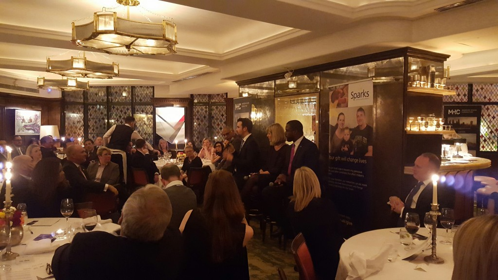 Discussion and debate at Sparks charity event 'Diversity in Business Leadership'.